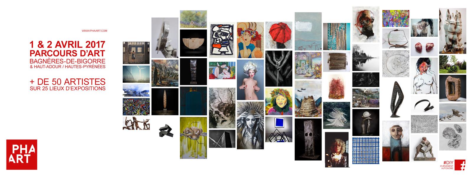 Le PHAART / 1er et 2 avril 2017 Parcours d'art / Bagnères-de-Bigorre et Haut-Adour